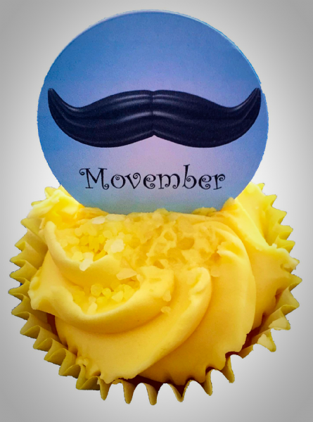 Edible cake toppers decoration - Movember